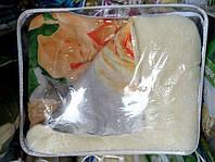 Одеяло из овечьей шерсти Лери Макс двуспальное оранжевые розы