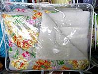 Одеяло из овечьей шерсти Евро размера Лери Макс с цветами