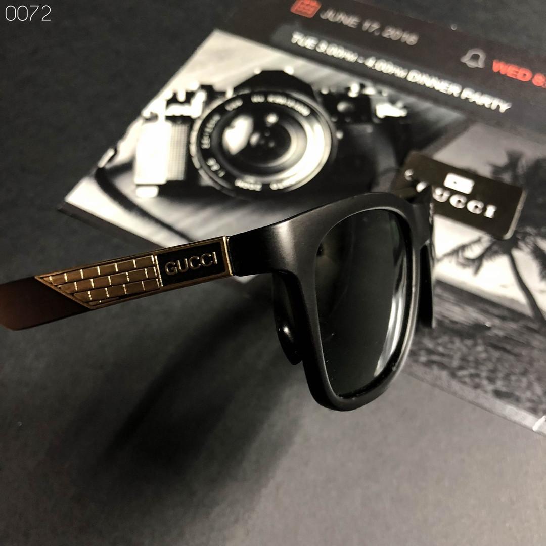Мужские черные солнцезащитные очки Gucci
