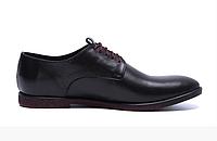 Мужские кожаные туфли VanKristi черные