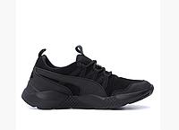 Чоловічі шкіряні кросівки Puma Runner black чорні, фото 1
