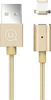 Кабель USB Usams US-SJ132 Магнитный Lightning Gold, фото 1