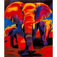 Картина по номерам 40*50 30378- Слоны