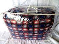 Одеяло из овечьей шерсти полуторное Лери-Макс кубики