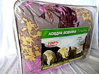 Одеяло из овечьей шерсти полуторное Лери-Макс цветы