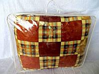 Одеяло из овечьей шерсти полуторное Лери-Макс коричневое