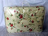 Одеяло из овечьей шерсти полуторное Лери-Макс Gold мелкие цветочки