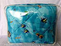 Одеяло из овечьей шерсти полуторное Лери-Макс Gold рыбки