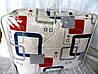 Одеяло из овечьей шерсти двуспальное Лери-Макс Gold кубики