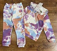 Трикотажний костюм-двійка утеплений для дівчаток