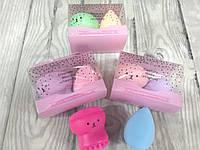 Набор спонж яйцо и Щётка для умывания