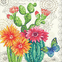 """70-35388 Набор для вышивания крестом DIMENSIONS Cactus bloom """"Цветение кактуса"""""""