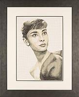 """PN-0008255 Набор для вышивки крестом LanArte """"Одри Хепберн"""""""