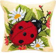 """PN-0008586 Набор для вышивания крестом (подушка) Vervaco Ladybug """"Божья коровка"""""""