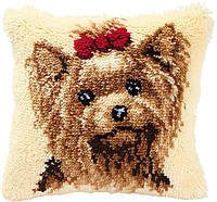 PN-0014144 Набор для вышивания подушки (ковроткачество) Vervaco Собачка