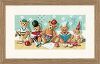 """PN-0021212 Набор для вышивки крестом LanArte """"Плюшевые мишки"""""""