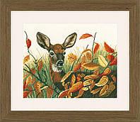 PN-0021223 Набор для вышивки крестом Lanarte, 36,5х29, аида 14, Deer