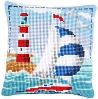 PN-0021781 Набор для вышивания несчётный крест (подушка) 40х40, Lighthouse Маяк Vervaco