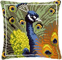 PN-0145700 Набор для вышивания крестом (подушка) Proud peacock Павлин Vervaco