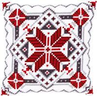 """PN-0146120 Набір для вишивання хрестом (подушка) Vervaco crystal Snow II """"Північна зірка II"""""""
