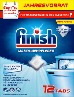Finish Spülmaschinenpfleger Tabs Таблетки для чистки посудомоечных машин 12 шт., фото 1