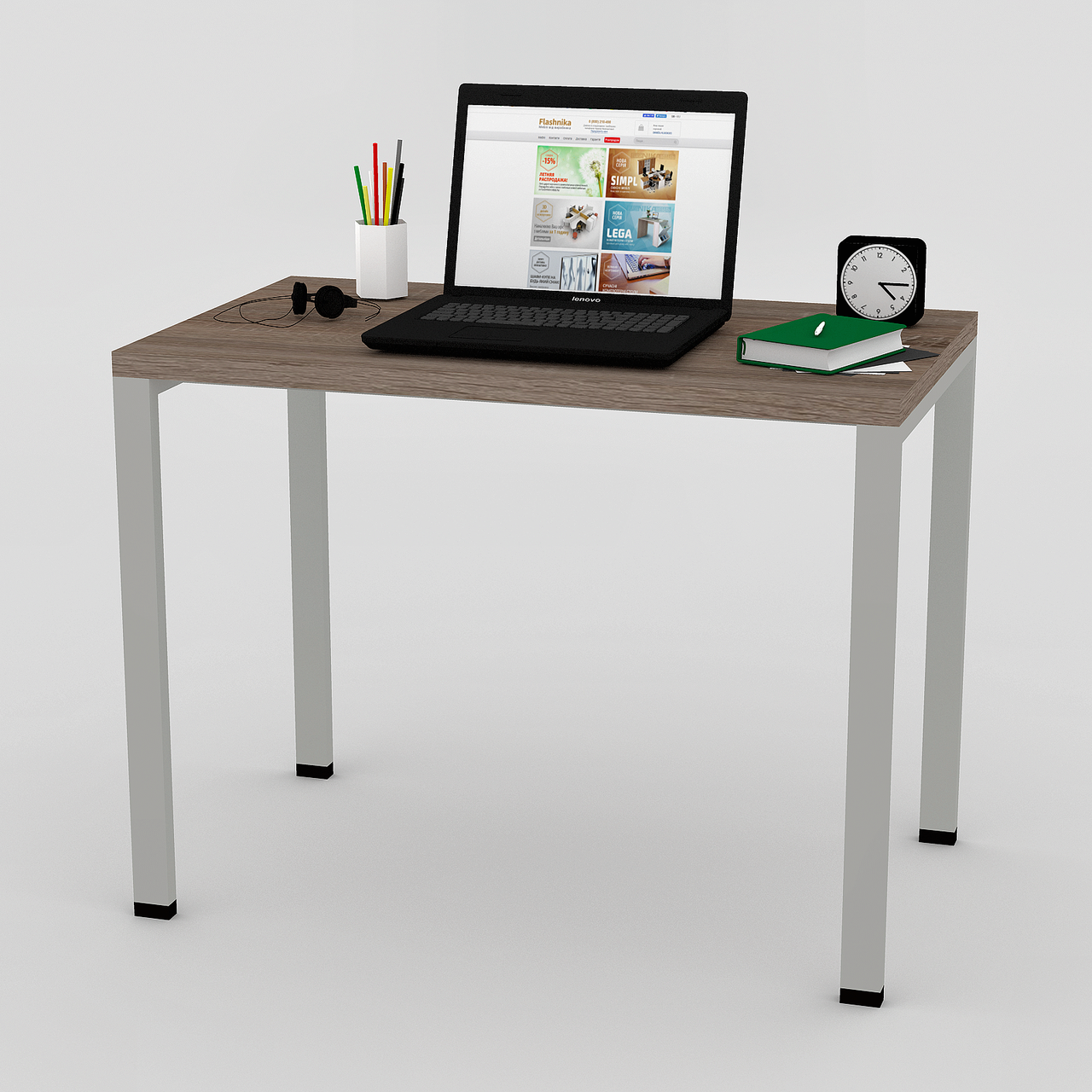 Письменный прямой офисный стол FlashNika / ФлешНика в стиле ЛОФТ МП-32 (600)