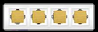 Рамка четверная береза El-Bi Zena