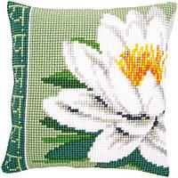 """PN-0156009 Набір для вишивання хрестом (подушка) Vervaco White lotus flower """"Квітка білого лотоса"""""""