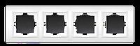 Рамка четверная черный El-Bi Zena