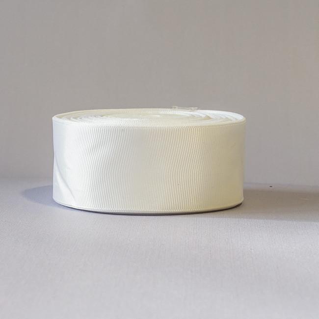 Лента репсовая 4 см белый