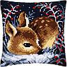 """PN-0158266 Набор для вышивания крестом (подушка) Vervaco Little deer """"Маленький олень"""""""