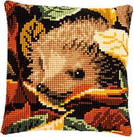 PN-0166003 Набор для вышивания несчётный крест (подушка) 40х40, Hedgehog ежик Vervaco