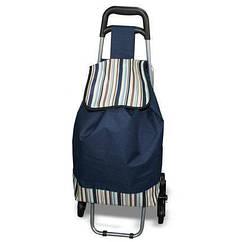 Сумка Supretto на коліщатках зі складним стільцем, Синій