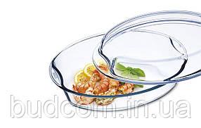 Форма овальная (гусятница) 4.4л (2.5л + 1.9л)  из жаропрочного стекла с крышкой Simax Exclusive