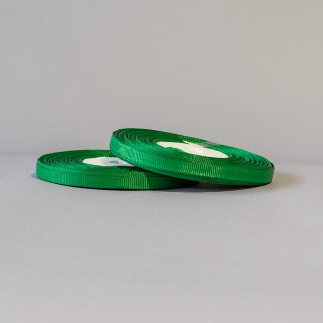 Лента репсовая 6 мм зеленый за 23 м