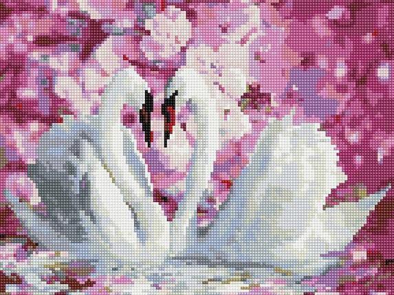 "Алмазная мозаика по номерам ""Белые лебеди"" Rainbow Art, фото 2"