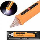 Безконтактний тестер напруги зі світловою і звуковою індикацією M100, фото 3