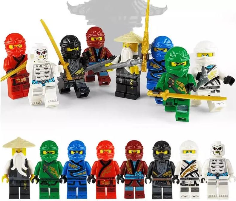Набор 8 шт.  Ниндзя-го мини фигурки Аналог Лего Конструктор Игрушки