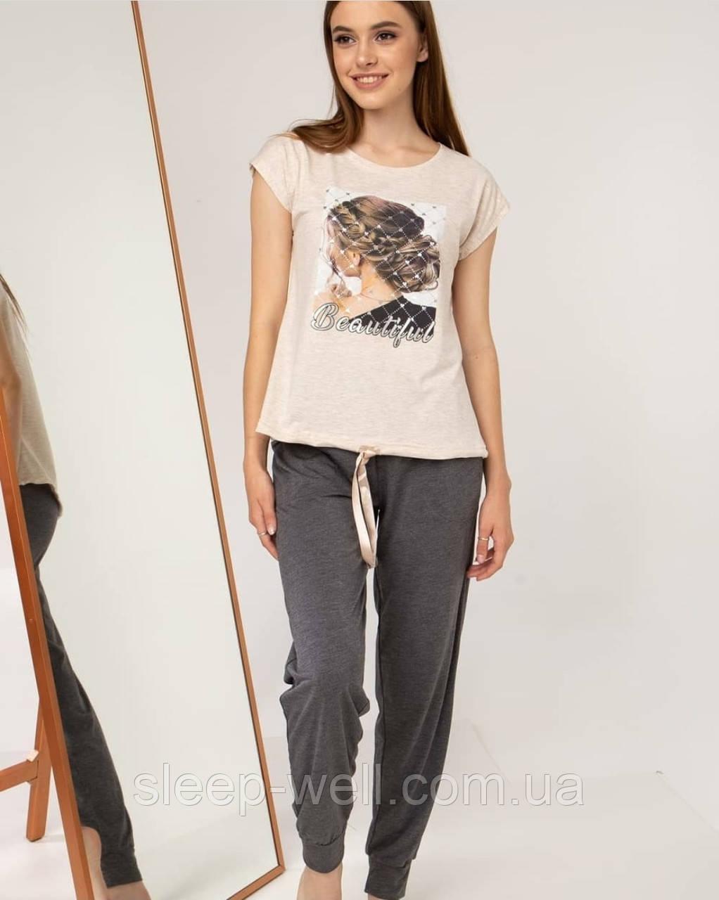Піжама з довгими штанами Nikoletta 60031