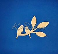Две птички на ветке заготовка для декупажа и декора