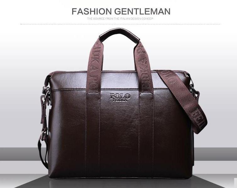 aa5ea7c261e3 Мужская сумка-портфель Polo под формат А4 Коричневая сумка. КС29, фото 1