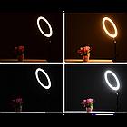 Кольцевая LED лампа 16 см селфи кольцо для блогера, фото 4