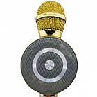 Беспроводной микрофон караоке WSTER WS-669 Bluetooth, Золотистый, фото 4