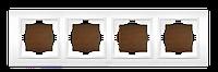 Рамка четверная орех El-Bi Zena