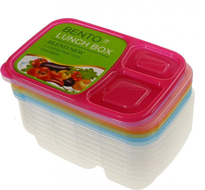 Набір контейнерів для їжі Supretto на 3 відділення 7 шт