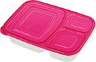 Набір контейнерів для їжі Supretto на 3 відділення 7 шт, фото 3