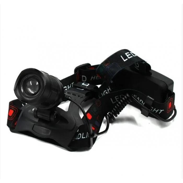 Мощный налобный фонарь BL POLICE P-T32-P50, Черный