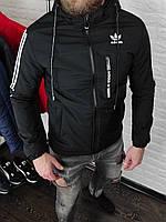 Куртка мужская Adidas демисезонная черная весенняя осенняя | Пуховик мужской Адидас ЛЮКС качества, фото 1