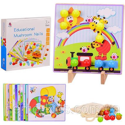 Деревянная мозаика, игрушка для развития и обучения