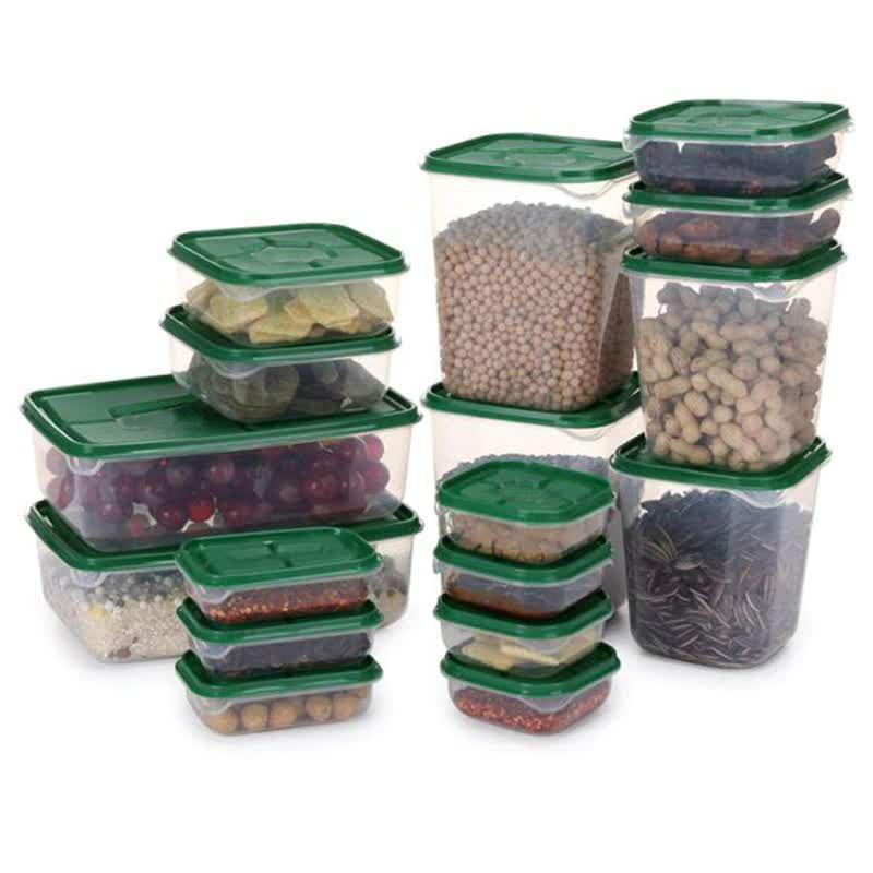 Набор пищевых контейнеров Supretto 17 шт, Зеленый